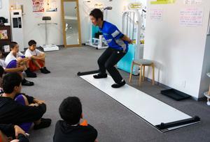 スライドボードのトレーニング